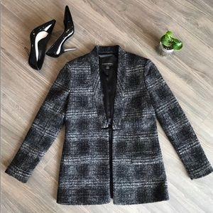 Banana Republic gingham knit jacket coat XS